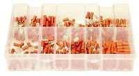 A02255-ASSORTED-BOX-OF-260-INSULATED-RED-TERMINALS-SPADES-BULLETSSOCKETS-200281018530