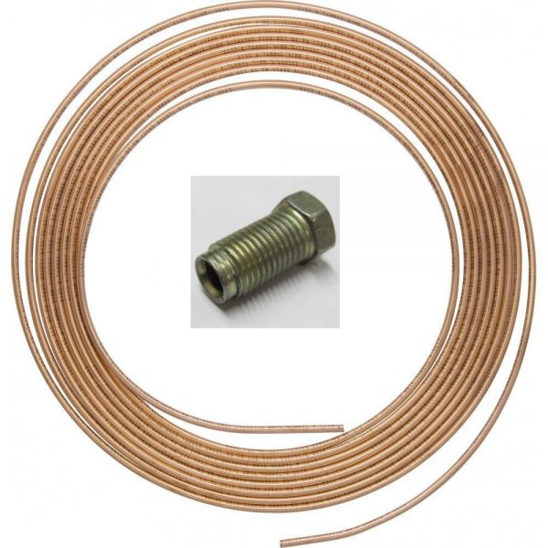 Copper-Brake-Pipe-316-OD-25ft-75m-22g-Easy-Flare-10-MALE-unf-imperial-Nuts-361989806342