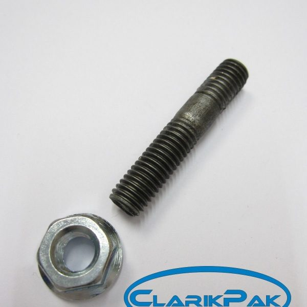 MANIFOLD-STUD-M8-x-43MM-x-125mm-46-G-SERRATED-FLANGED-NUT-CP036-20-OF-EACH-360679109262