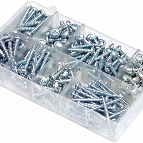 MINI-BOX-SELF-TAPPING-SCREWS-POZI-PAN-HEAD-SIZES-8-12-A04080-QTY-200-200487834072