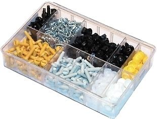 A02400-ASSORTED-BOX-NUMBER-PLATE-FASTENERS-NYLON-BOLTSDOMES-QTY-240-360275373384