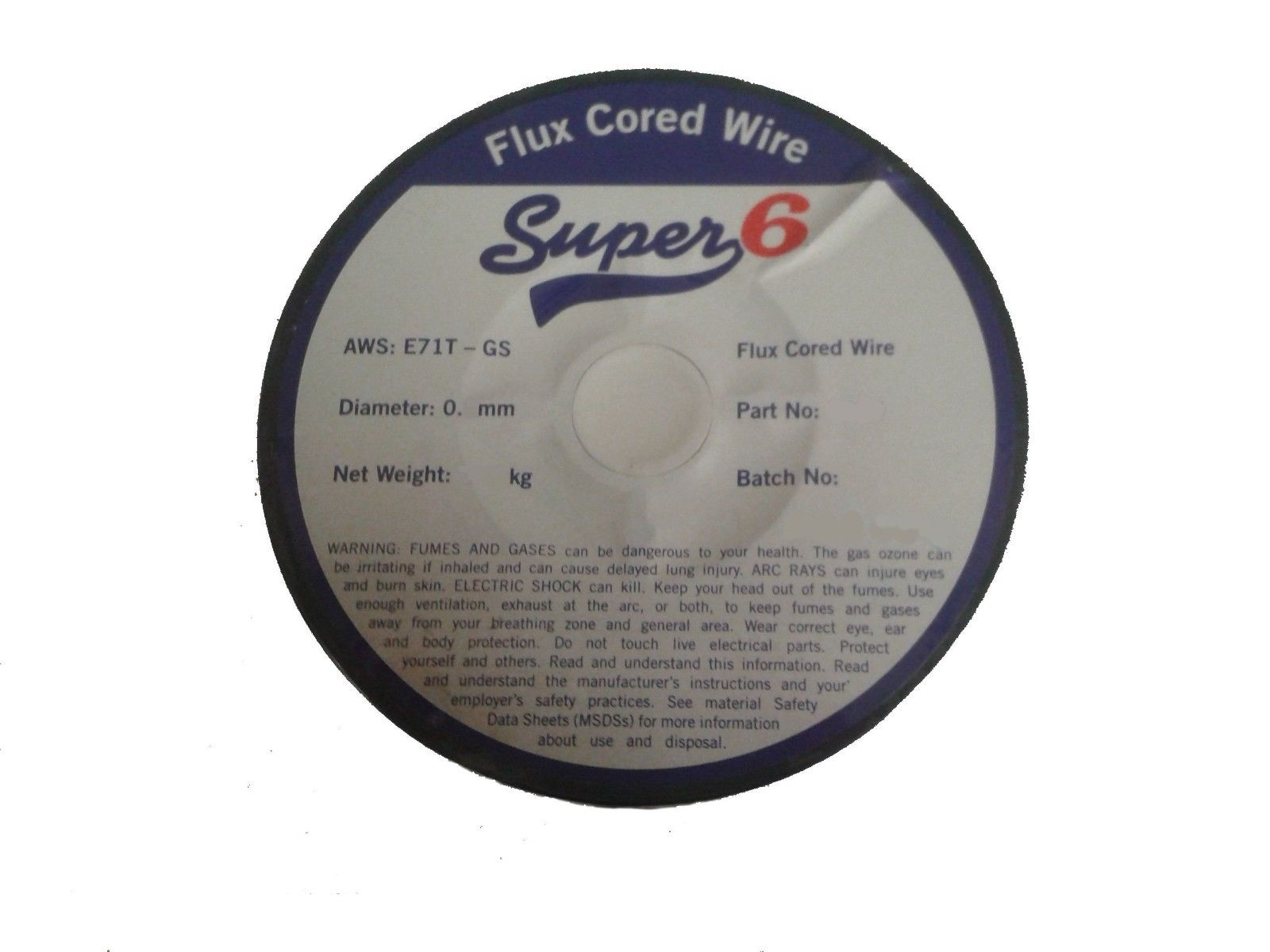 SWP SUPER 6 7339 0.9MM FLUX CORED GASLESS MIG WELDING WIRE 4.5KG ...