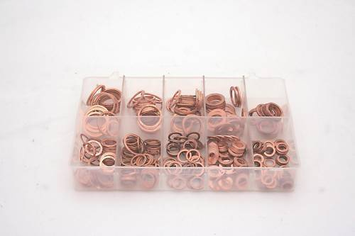 A01665-ASSORTED-BOX-COPPER-COMPRESSION-WASHERS-METRIC-QTY-250-360274822757