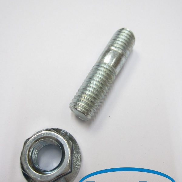 MANIFOLD-STUD-M10-x-38MM-x-15mm-46-G-SERRATED-FLANGED-NUT-CP029-10-OF-EACH-181160469657