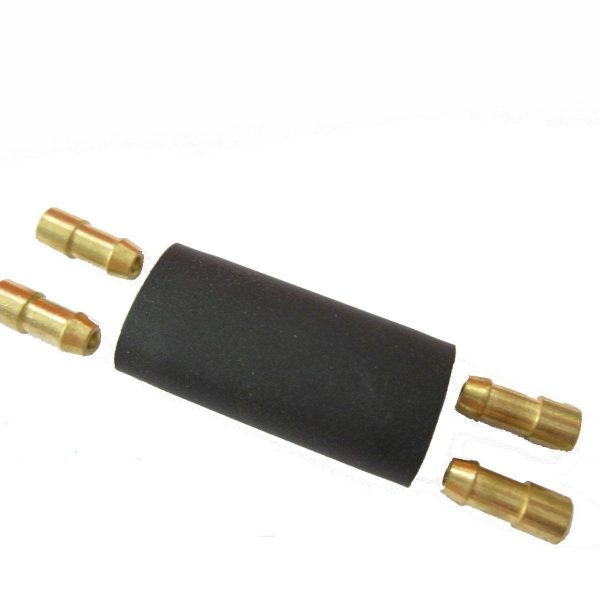 BLACK-DOUBLE-BULLET-WIRING-CONNECTOR-SOLDERLESS-BRASS-BULLETS-CP116-10PCS-181160469668