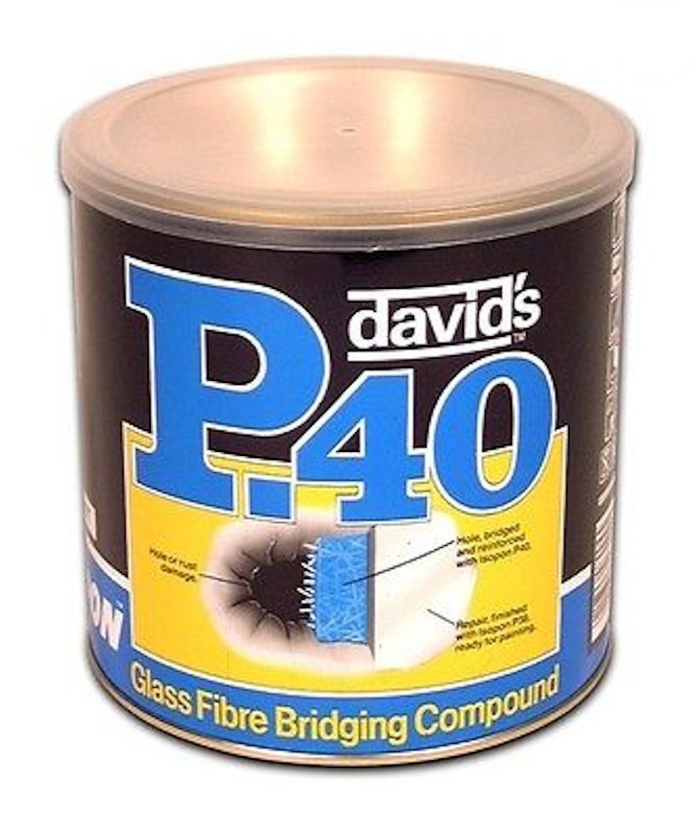 DAVIDS ISOPON P40 GLASS FIBRE 1 LITRE TUB BRIDGES HOLES AND RUST QTY 1 TUB