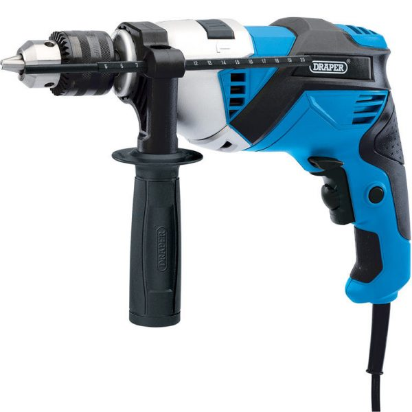 DRAPER-20502-230V-1010W-HAMMER-DRILL-2-SPEED-GEARBOX-VARIABLE-SPEED-CONTROL-200945899509